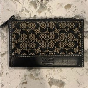 Coach small wallet, black